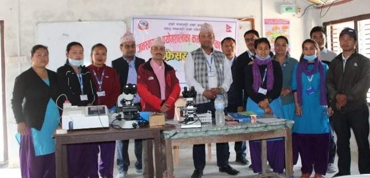 माथागढी गाँउपालिकामा जनस्वास्थ्य प्रयोगशालाका कर्मचारीलाइ रिफ्रेसर तालिम