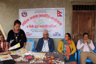 माथागढीमा चुरा बनाउने तालीम सम्पन्न, ५३ जना महिला सहभागी